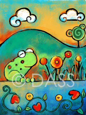 Frog in the Spring