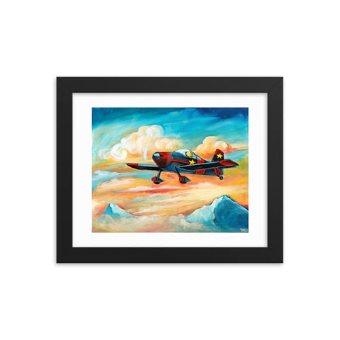 Flying Dreams Pilot Dog Vans RV6 Framed Print