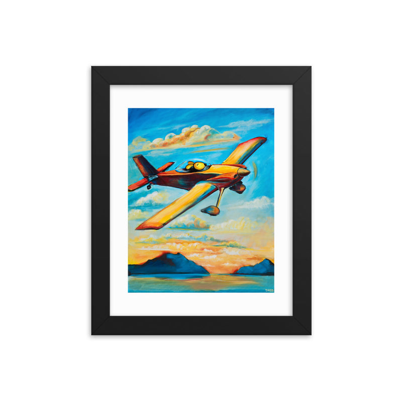 Home for Sunset Pilot Dog Vans Rv4 Framed Print