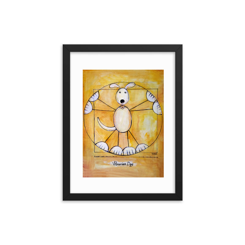 Vitruvian Dog Framed Print