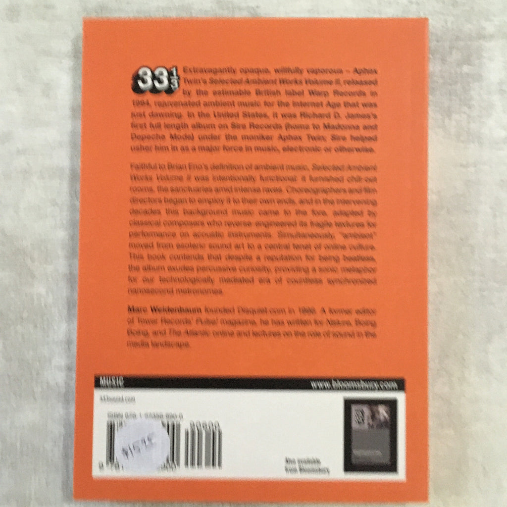 Book: 33 1/3 #090: Selected Ambient Works II