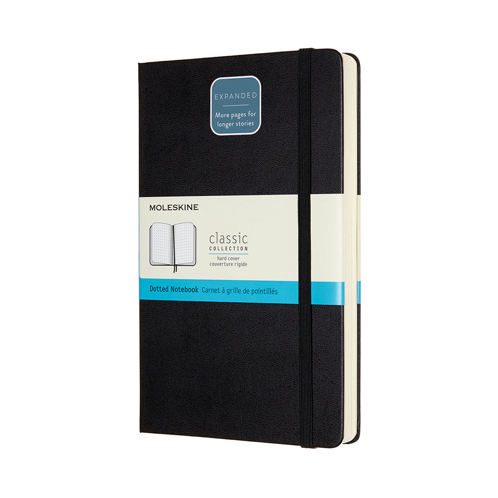 Moleskine Notebook: Classic Collection Hard Cover Large Expanded DOTTED (Various Colors)