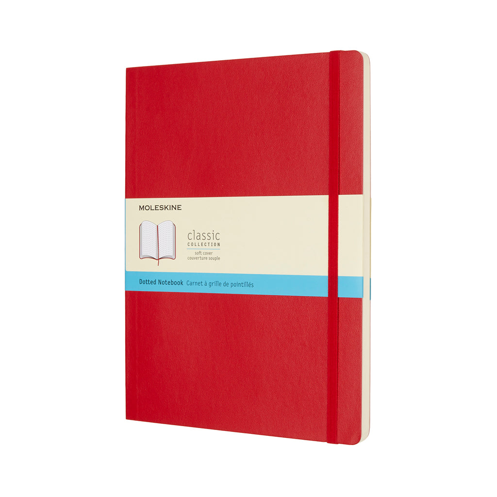 Moleskine Notebook: Classic Collection Soft Cover X-Large DOTTED (Various Colors)