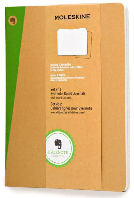 Moleskine Notebook: Cahiers Collection Evernote 2-Pack Soft Cover Extra-Large RULED