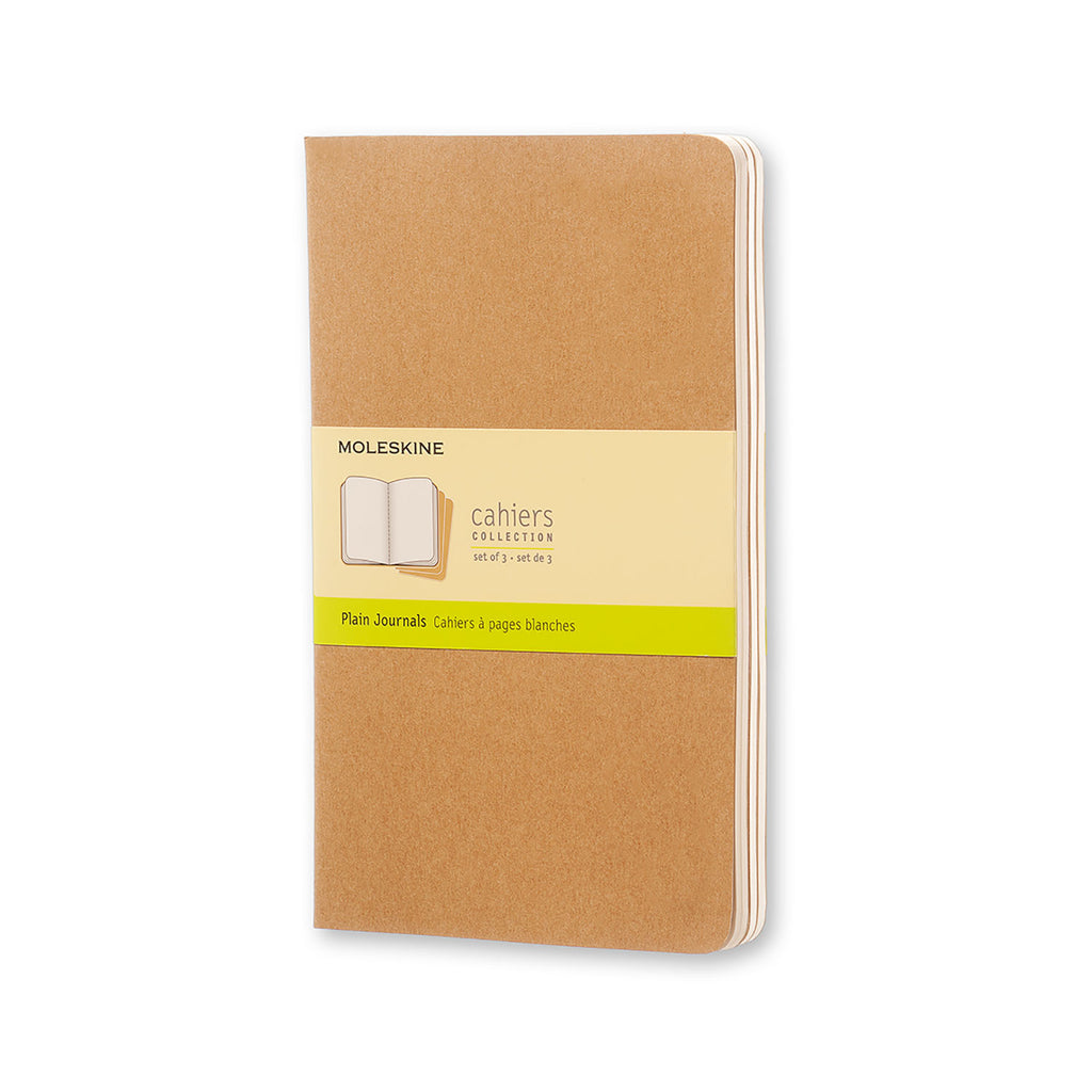 Moleskine Notebook: Cahiers Collection 3-Pack Soft Cover Large PLAIN (Various Colors)