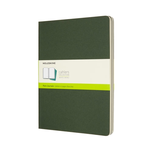 Moleskine Notebook: Cahiers Collection 3-Pack Soft Cover X-Large PLAIN (Various Colors)
