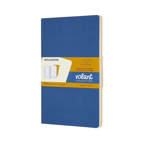 Moleskine Notebook: Volant Collection 2-Pack Soft Cover Large RULED (Various Colors)