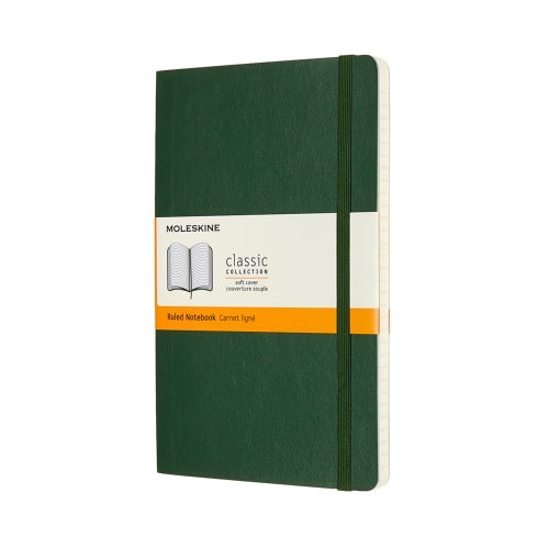 Moleskine Notebook: Classic Collection Soft Cover Large RULED (Various Colors)