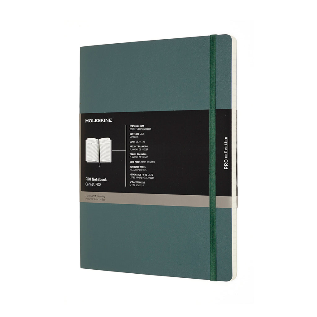 Moleskine Notebook: Pro Collection Soft Cover X-Large Professional Notebook (Various Colors)