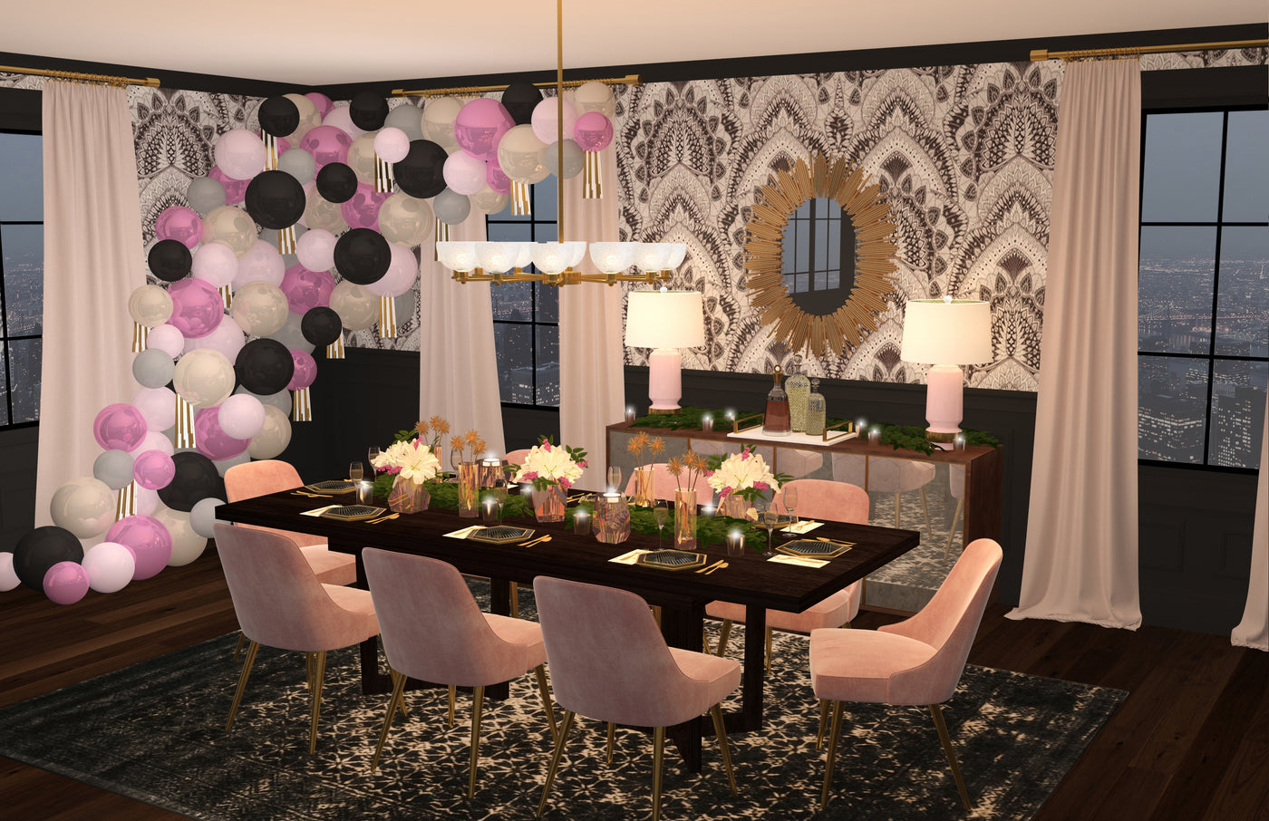 Black Twine Dining Room