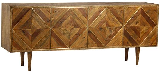 Brass Inlaid Sideboard