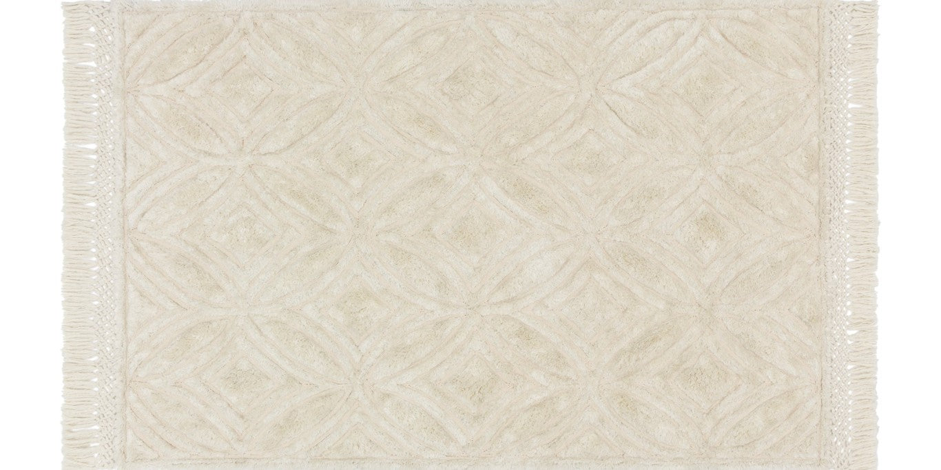 Ivory Carved Pattern Rug
