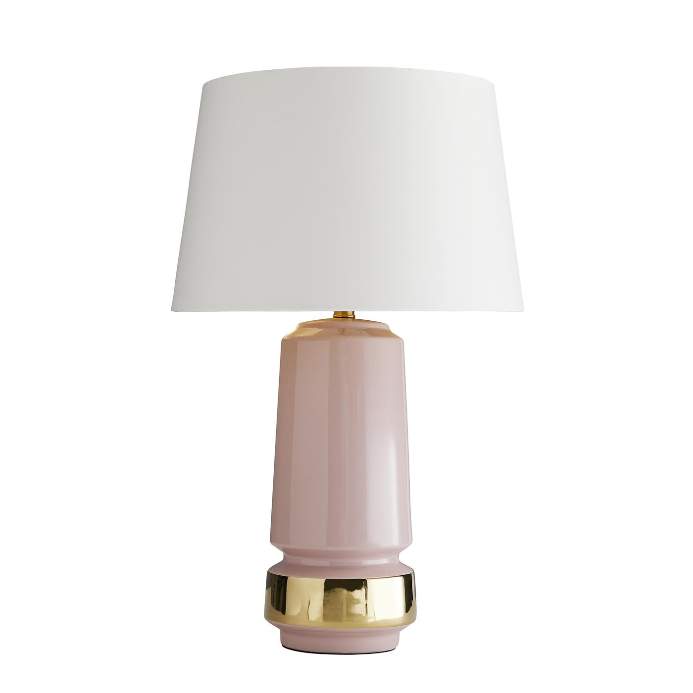 Blush and Gold Lamp