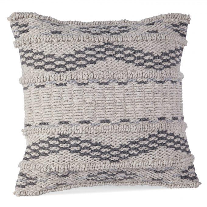 Grey and Ivory Pillow