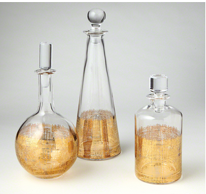 Etched Gold Decanters
