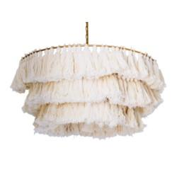 White Tassel Chandelier
