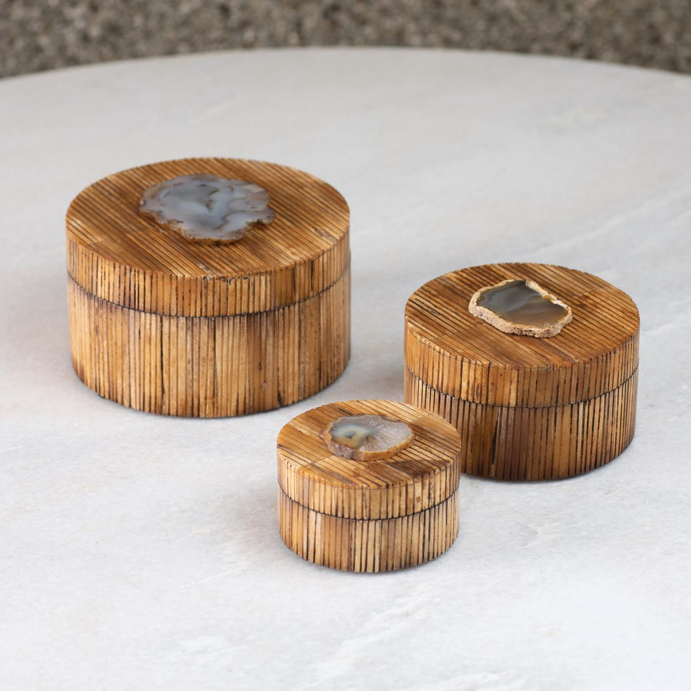 Bone and Agate Boxes