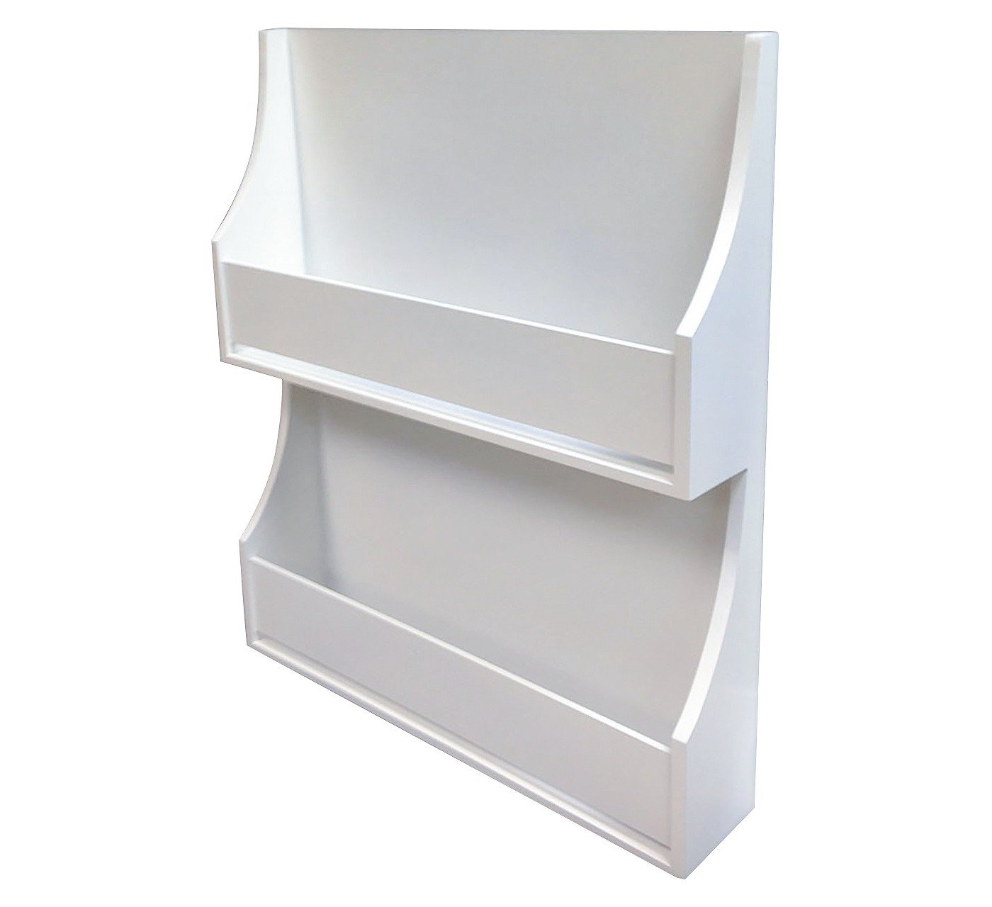 2-Tiered White Bookshelf