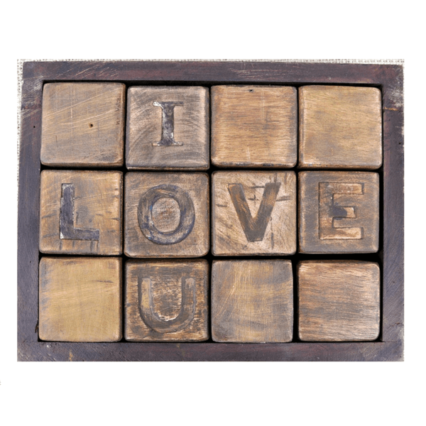"""I Love You"" Blocks"