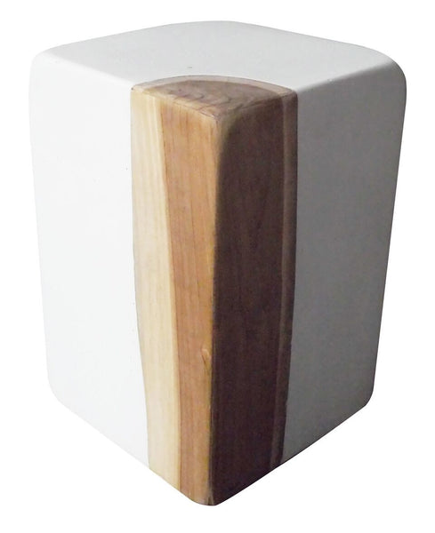 Teak and Resin Stool