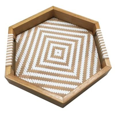 Woven and Wood Tray