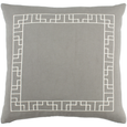 Embroidered Border Throw Pillow