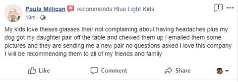 blue light kids (bluelightkids.com) guarantees their product....its so awesome!