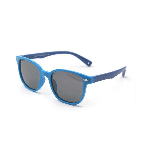 Blue Light Kids Blue & Blue Premium FunFlex Ultra Durable Sunglasses (Ages 3-10) Blue Light Glasses for Kids