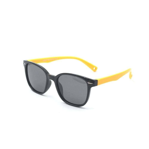 Blue Light Kids Black & Yellow Premium FunFlex Ultra Durable Sunglasses (Ages 3-10) Blue Light Glasses for Kids