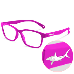 Blue Light Kids Pink Hammerhead FunFlex Ultra Durable Pink Hammerhead Blue Light Blockers (Ages 3-9) Blue Light Glasses for Kids