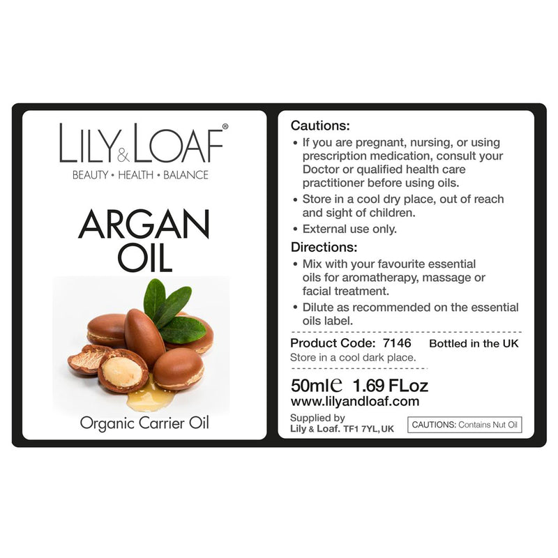 Argan Organic Carrier Oil 50ml