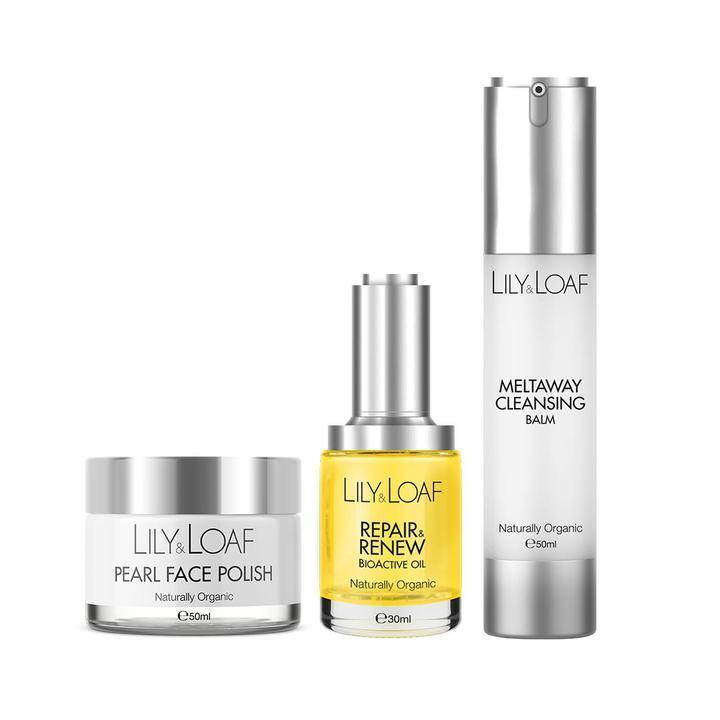 Lily & Loaf Cleanse, Polish & Renew Organic Skincare Gift Set