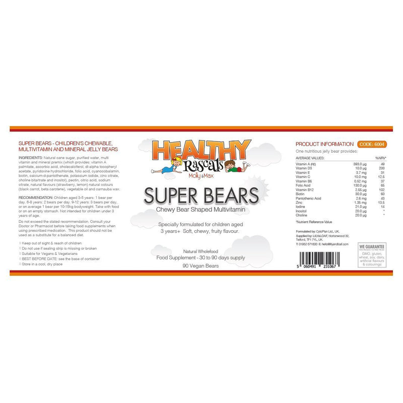 Healthy Rascals Super Bears