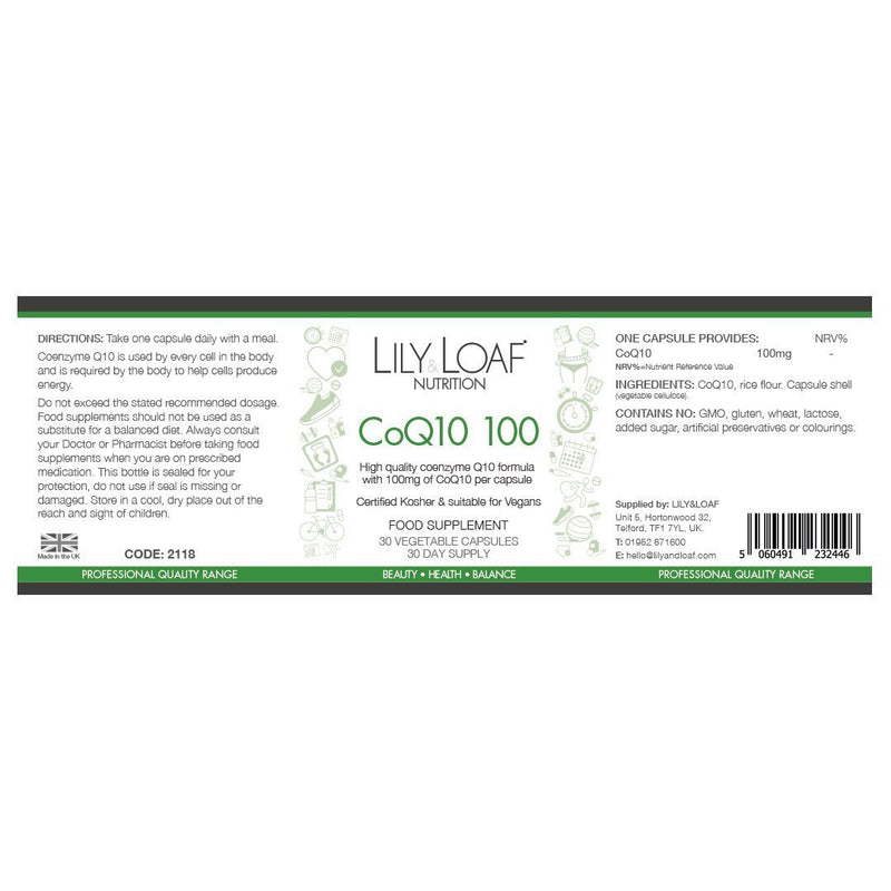 Lily & Loaf CoQ10 100 (30 capsules)