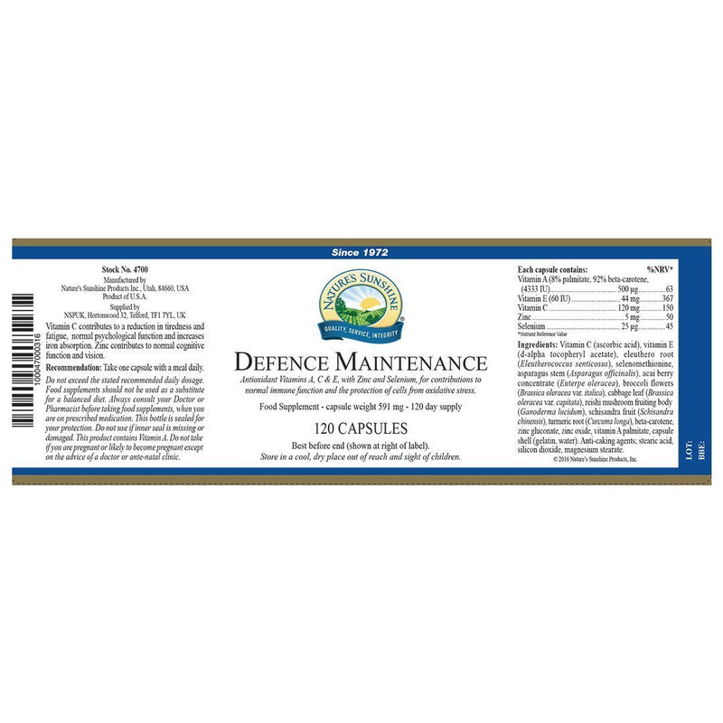 Nature's Sunshine Defence Maintenance (120 capsules)