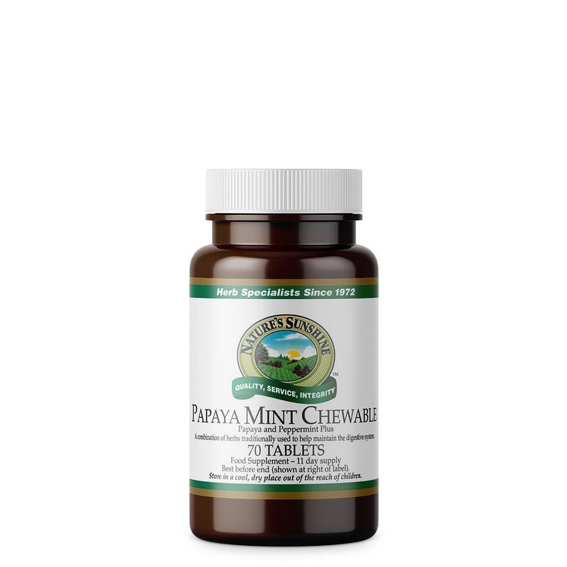 Nature's Sunshine Papaya Mint Chewable (70 tablets)