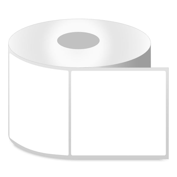"THERMAL TRANSFER LABELS  ROLLED - REMOVABLE ADHESIVE 8"" OD 3"" CORE"