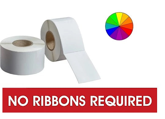DIRECT THERMAL LABELS - COLOR - NO RIBBON REQUIRED