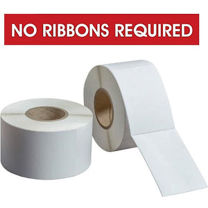 "DIRECT THERMAL LABELS  ROLLED - PERFED  -  4"" OD 1"" ID CORES - NO RIBBON REQUIRED"