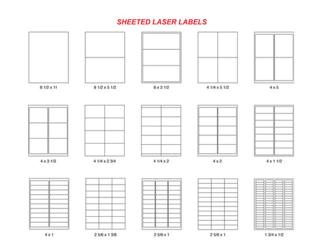 SHEETED LASER LABELS -   EDP