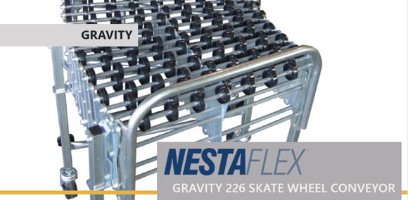 NESTAFLEX - GRAVITY 226 SKATE WHEEL CONVEYOR