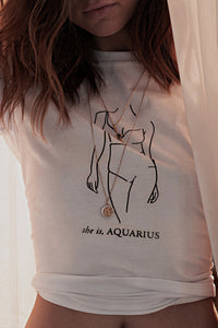 TUGA Aquarius Star Sign Tee