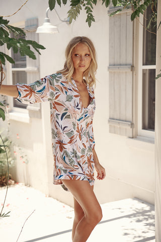 Womens Floral Boho Playsuit