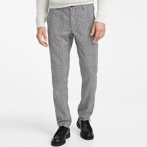 British Style Classic Plaid Straight Pants
