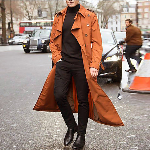 Brief Loose Fitting Solid Color Trench Coat