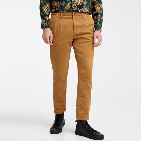 Fashion men's solid color casual trousers