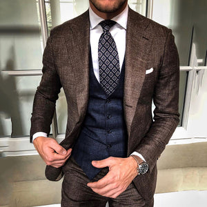 Classic Suit Collar Long Sleeves Fitted Blazer