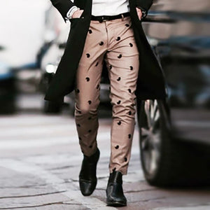 Casual Printed Middle Waist Pant