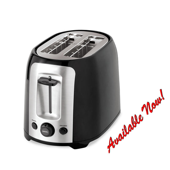 2-Slice Extra Wide Slot Toaster / Black/Silver, P2005