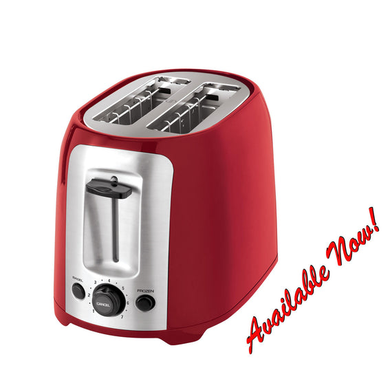 2-Slice Extra Wide Slot Toaster / Red/Silver, P2005